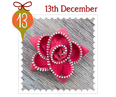 Advent Calendar 2014 - 13th December - Zippy Flower Brooches