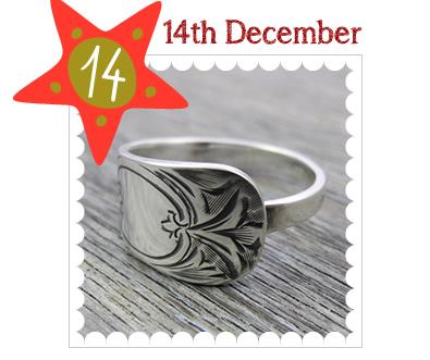 Advent Calendar 2014 - 14th December - Antique Silverware Brightcut Rings