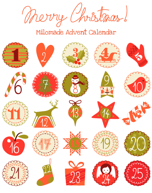 Milomade Advent Calendar 2014