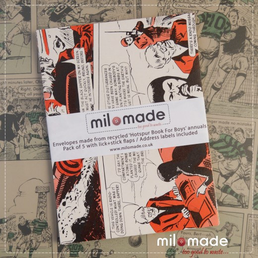 Milomade Envelopes made from Hotspur for Boys