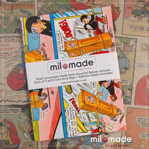 Milomade Envelopes made from Beezer