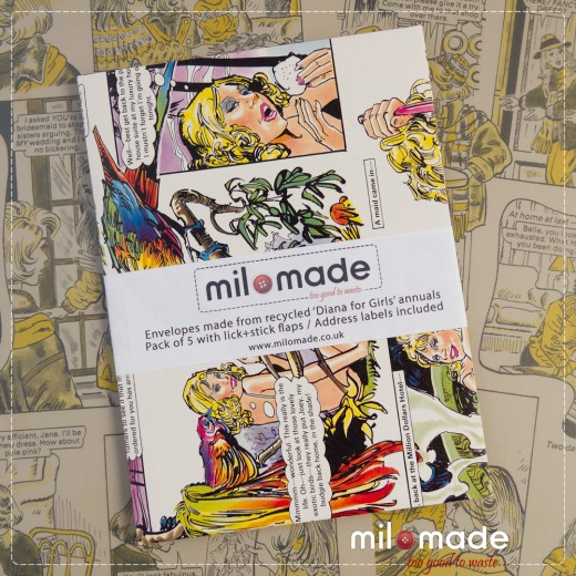 Gifts For Her - Envelopes made from vintage girls annuals