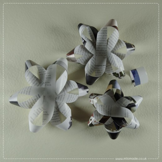 Milomade Tutorial - Magazine Gift Bow