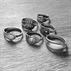 Antique Silverware Rings by Milomade