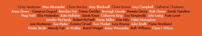 Winter Warmth 2015 - list of artists