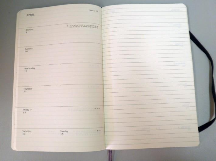 Moleskine Weekly planner