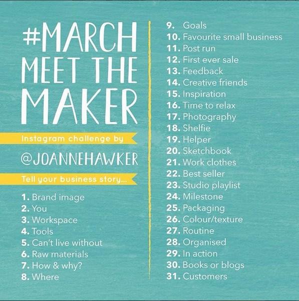 #MarchMeetTheMaker