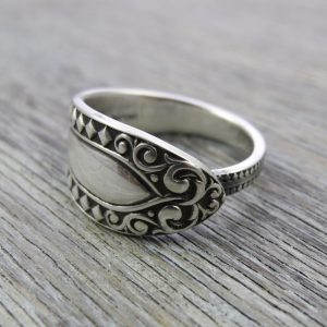 Milomade Antique Silverware Spoon Ring - Caoimhe