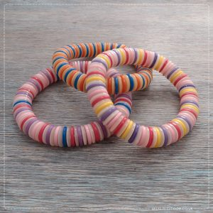 Milomade Eco Chic Collection - Elasticated Button Bracelets