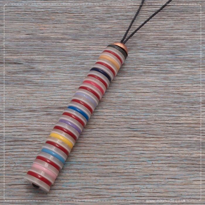 Milomade Eco Chic Collection - Button Stack Pendant