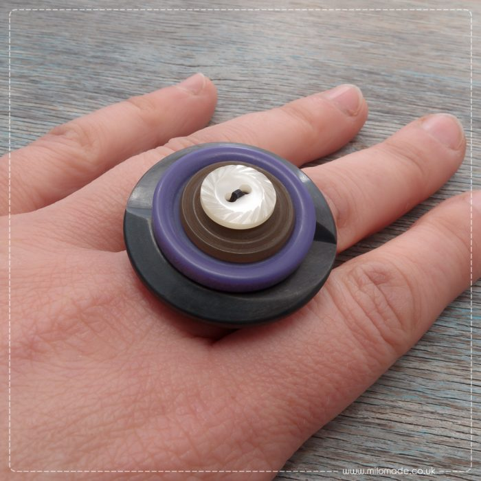 Milomade Eco Chic Collection - Vintage Button Rings