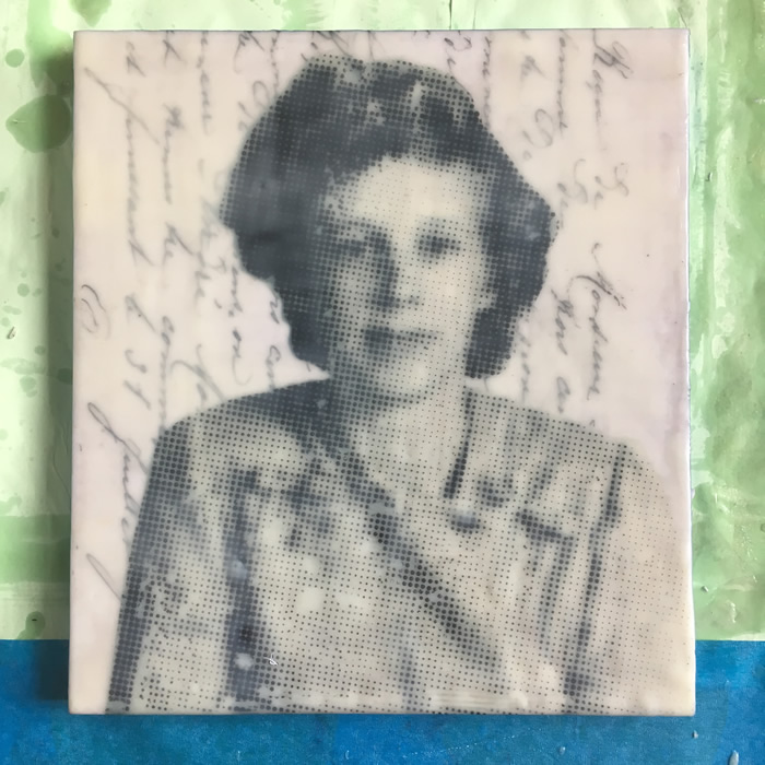 Evie Milo - Photo Encaustic Work using Vintage Photographs