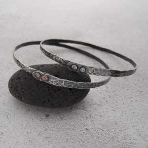 Milomade Jewellery - Echoes Collection - Ripple Bangle - Handcrafted from Recycled EcoSilver