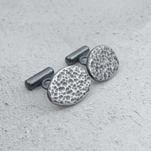 Milomade Jewellery - Echoes Collection - Ripple Cufflinks - Handcrafted from Recycled Sterling Silver Teaspoons