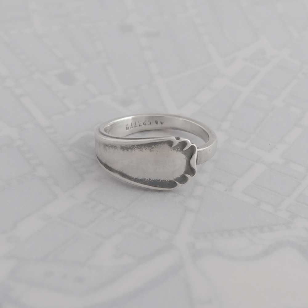 sterling silver spoon ring handcrafted in scotland by milomade