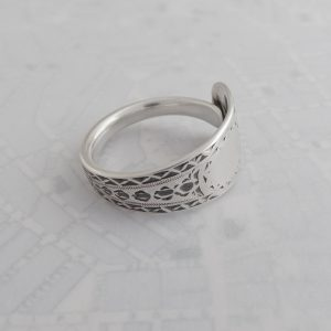 Milomade Antique Silverware Spoon Ring - Made by Evie Milo the #SpoonLady - Aingeal - London 1896