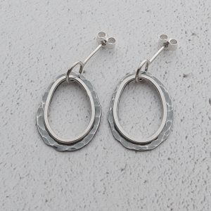 Milomade Jewellery - Echoes Collection - Rockpool Drops- Handcrafted in Scotland from Recycled EcoSilver