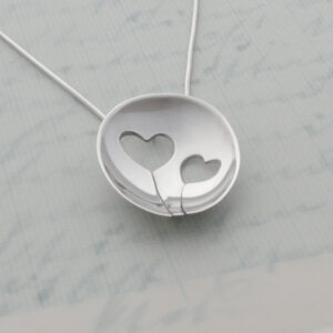Milomade Jewellery - Enduring Love Collection - Two Heart Pendant