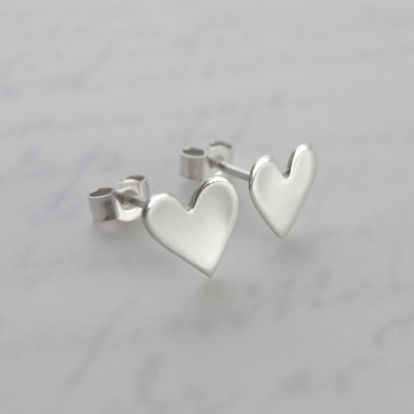 Milomade Jewellery - Enduring Love Collection - Heart Studs