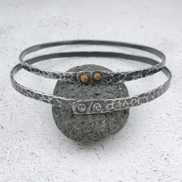 Milomade Jewellery - Echoes Collection - Ripple Bangle - Handcrafted from Recycled Sterling Silver Teaspoons