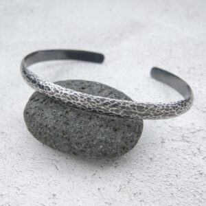 Milomade Jewellery - Echoes Collection - Ripple Cuff - Handcrafted from Recycled Sterling Silver Teaspoons