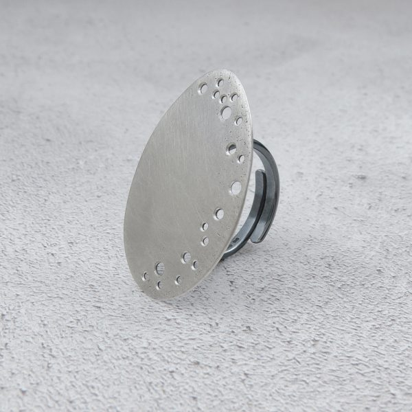Milomade Jewellery - Echoes Collection - Seafoam Ring - Handcrafted from Recycled Sterling Silver Teaspoons