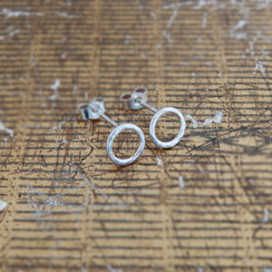 Milomade Jewellery - Little Details Collection - Circle Studs (Smooth)