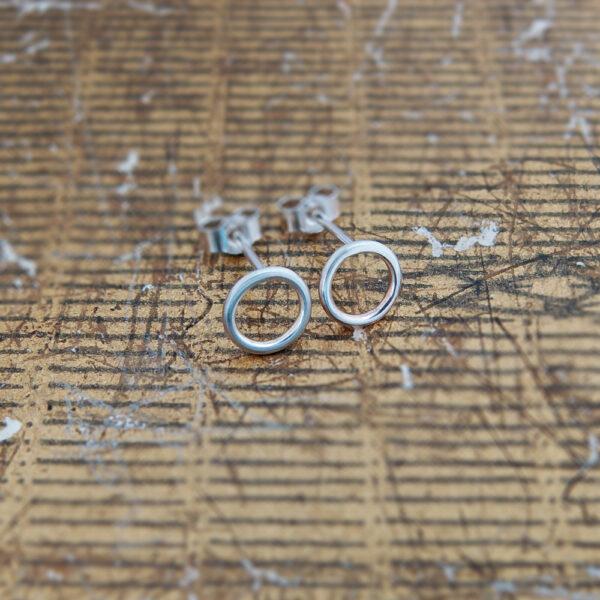 Milomade Jewellery - Little Details Collection - Circle Studs (Plain)