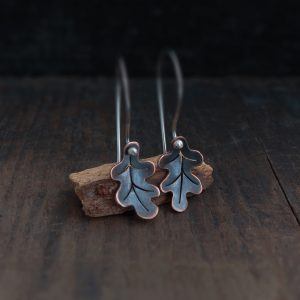 Milomade Jewellery - Woodland Collection - Oak Leaf Earrings