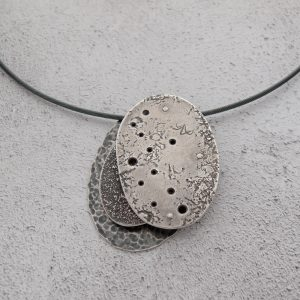 Milomade Jewellery - Echoes Collection - Seashore Necklet - Handcrafted from Recycled Sterling Silver Teaspoons