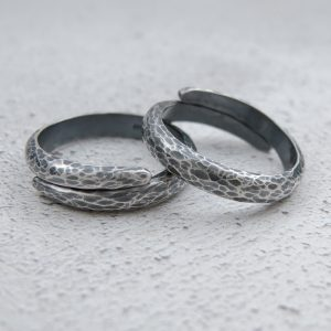 Milomade Jewellery - Echoes Collection - Ripple Ring - Handcrafted from Recycled Sterling Silver Teaspoons