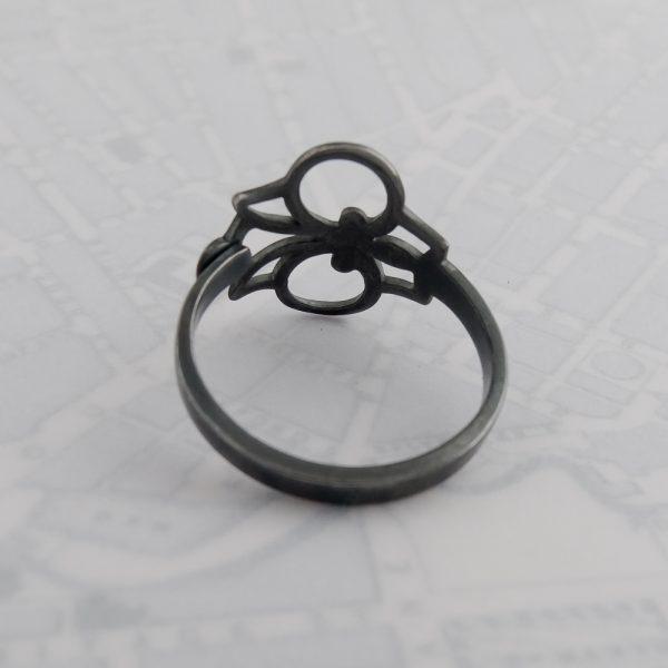 Milomade Antique Silverware Spoon Ring - Made by Evie Milo #TheSpoonLady - Iuchair - Birmingham 1923