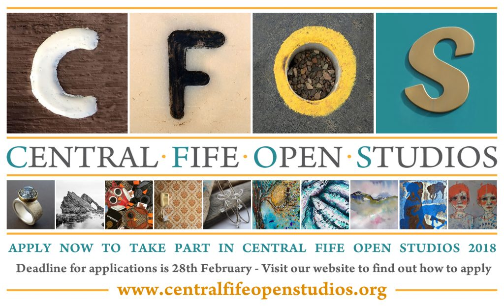 Central Fife Open Studios 2018 - Applications now open - Deadline 28th February
