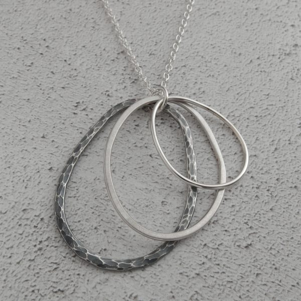 Milomade Echoes Collection - Rockpool Pendant - Inspired by the sea - made from recycled silver