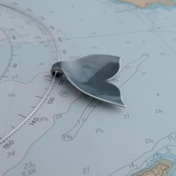 Unique, handcrafted Whale Tail Necklets made in Kinghorn from rare and recycled silver