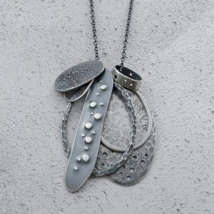 Milomade Jewellery - Echoes Collection - Flotsam Pendant - Handcrafted from Recycled Sterling Silver Teaspoons