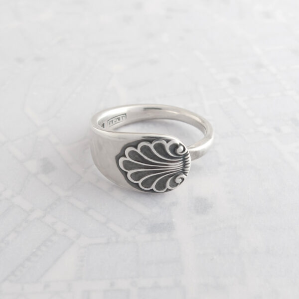 Milomade Antique Silverware Spoon Ring - Made by Evie Milo #TheSpoonLady - Anthemion - Sheffield 1932
