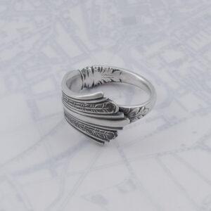 Milomade Antique Silverware Spoon Ring - Made by Evie Milo #TheSpoonLady - Péagóg - Sheffield 1909