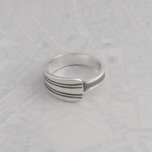 Milomade Antique Silverware Spoon Ring - Made by Evie Milo #TheSpoonLady - Sporran - Sheffield 1957