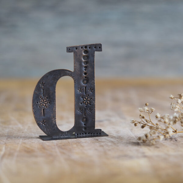Handcrafted Copper Type - Letter D