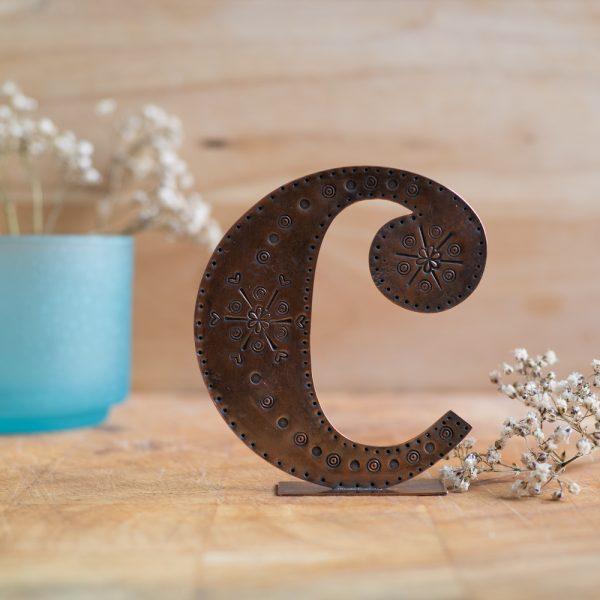 Copper Type - Letter C