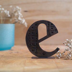 Copper Type - Letter E
