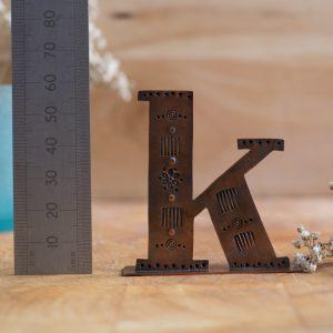 Copper Type - Letter K