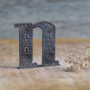 Handcrafted Copper Type - Letter N