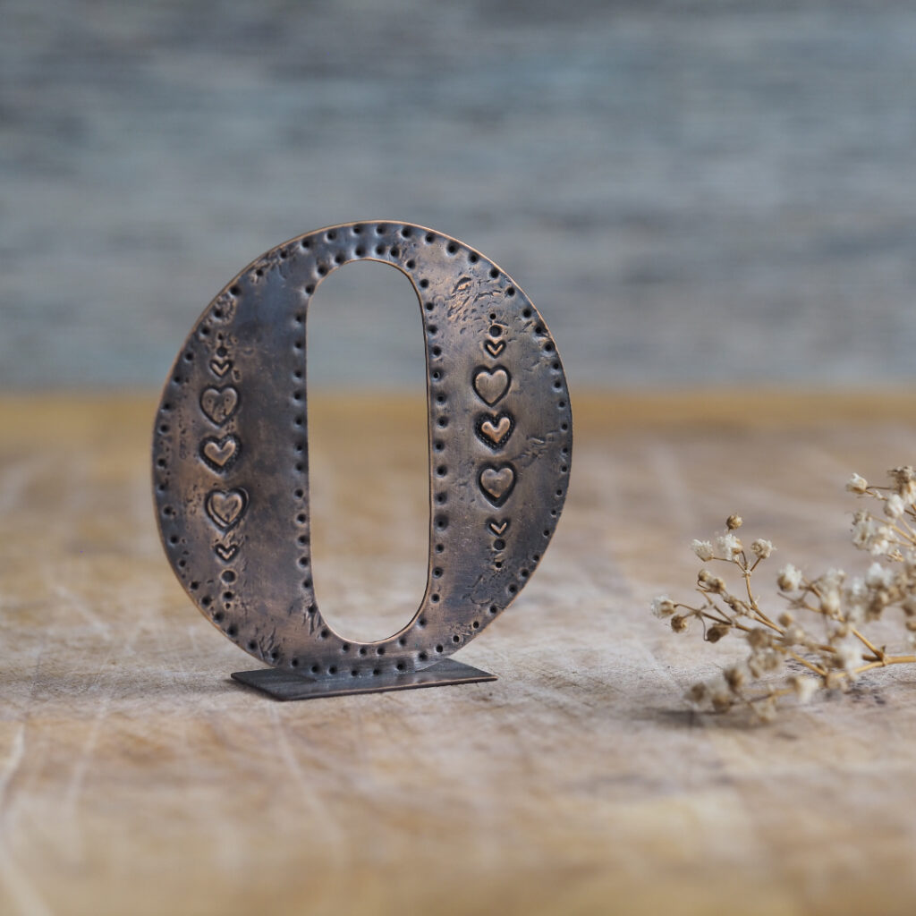 Handcrafted Copper Type - Letter O