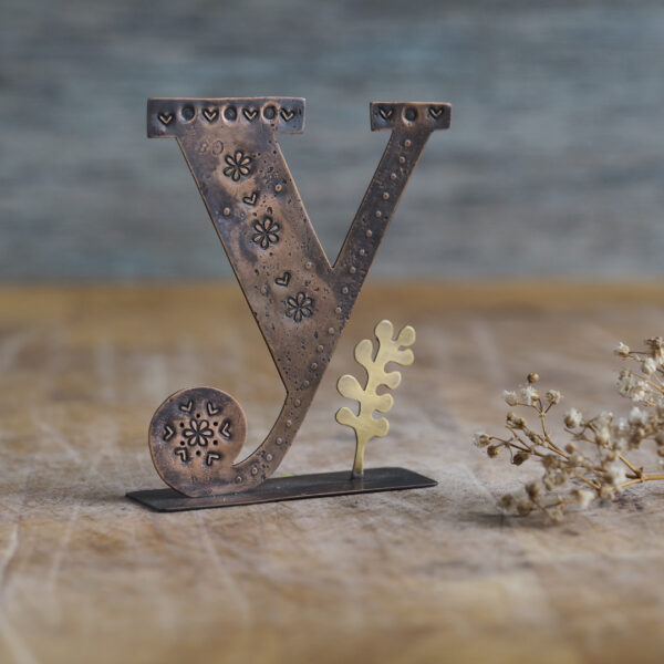 Handcrafted Copper Type - Y is for Yarrow