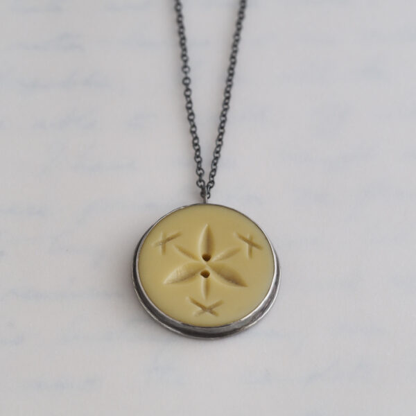 Heirloom Button Pendant - Yellow