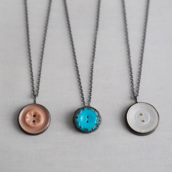 Sale - Heirloom Button Pendants