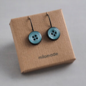 Sale - Heirloom Button Earrings