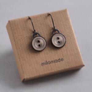 Sale - Heirloom Button Earrings